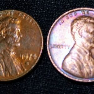 1974 Lincoln Memorial cent penny S; 2 in this lot